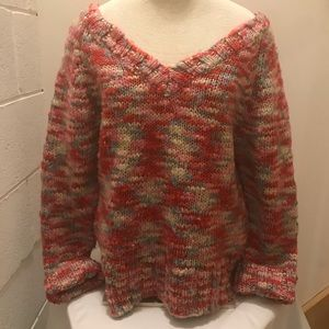525 America chunky knit oversized sweater. Large
